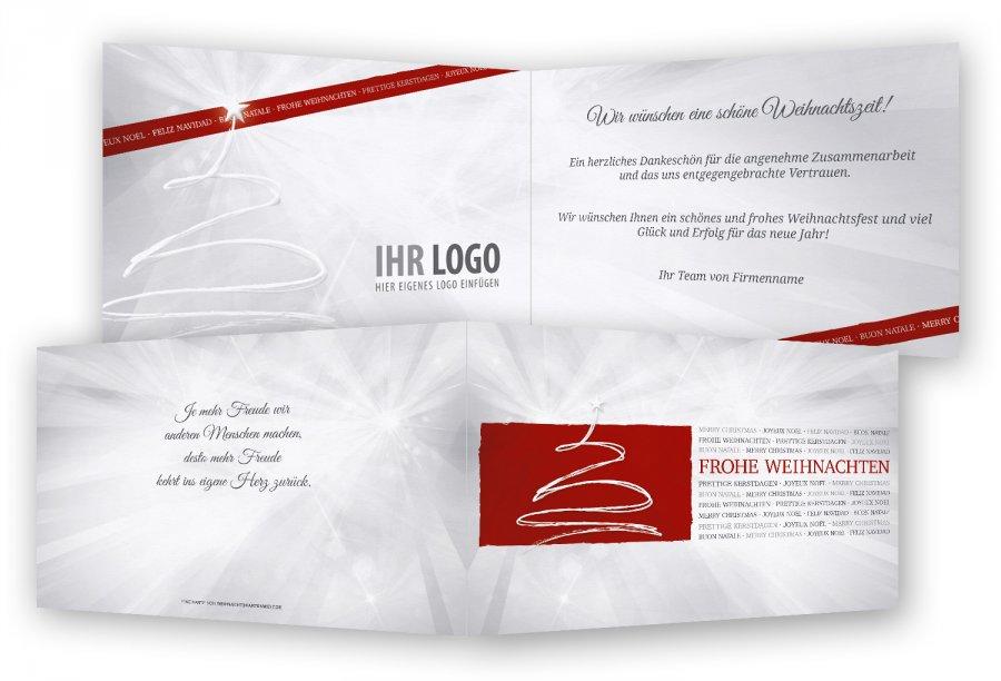 Geschäftliche Weihnachtskarten Text.Vorlage Geschäftliche Weihnachtskarten Feinekarten Com