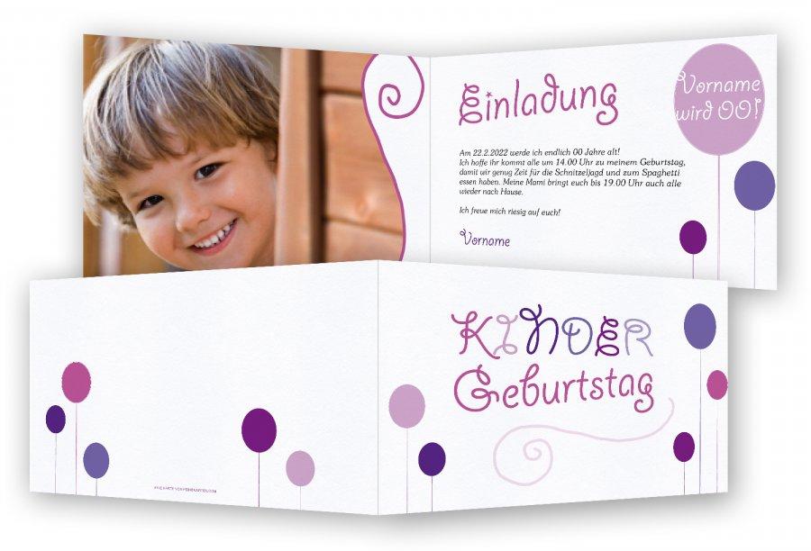 Kindergeburtstagseinladungen