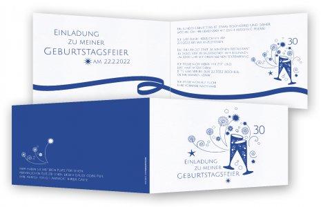 Einladungskarten 30. Geburtstag · Sektgläser Mit Band