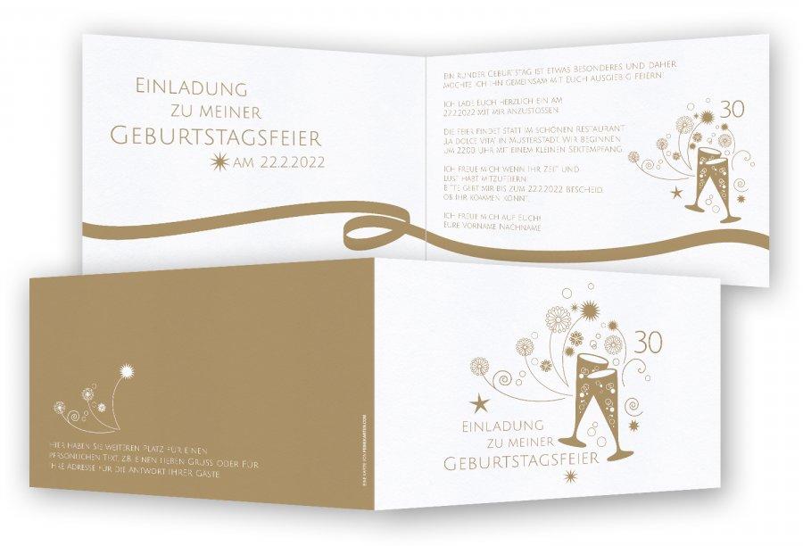 Einladungskarten 30. Geburtstag | Feinekarten.com