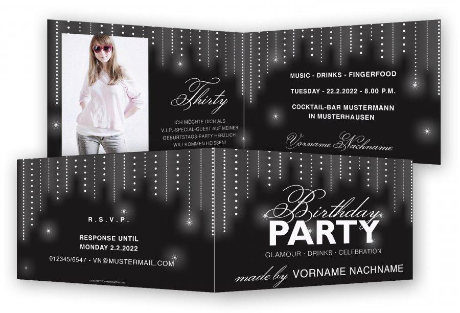 Schön Einladungskarte 30 Geburtstag
