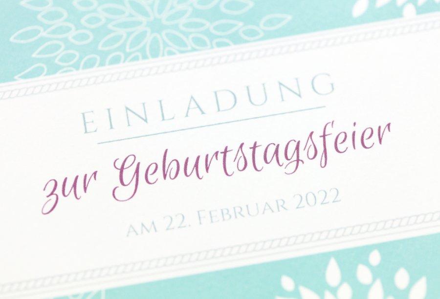 Einladung 40. Geburtstag | Feinekarten.com