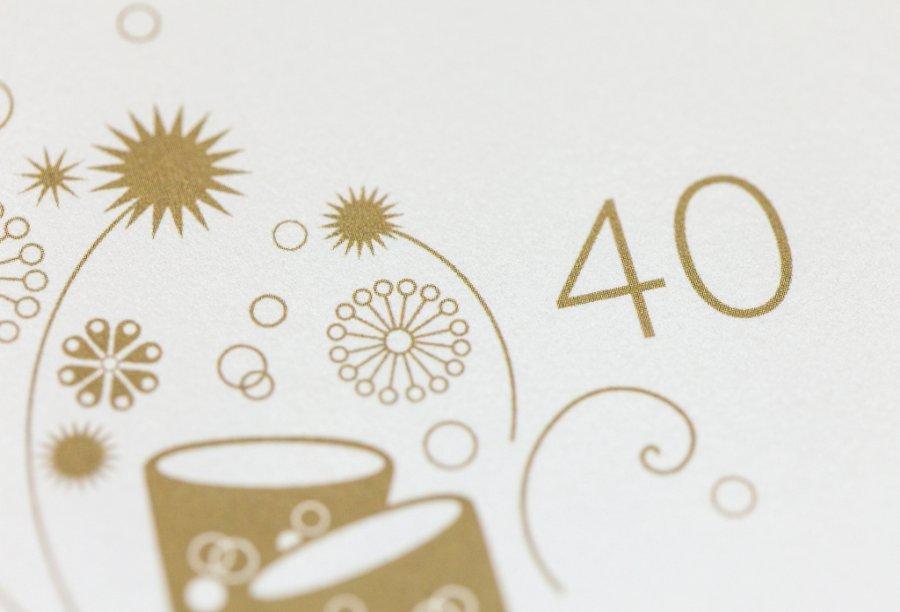 Einladung für 40. Geburtstag | Feinekarten.com