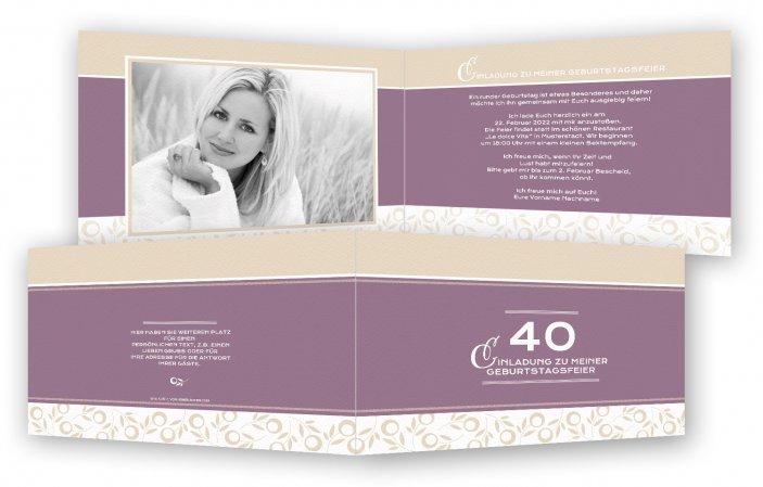 einladungskarten 40 geburtstag | feinekarten, Einladungsentwurf