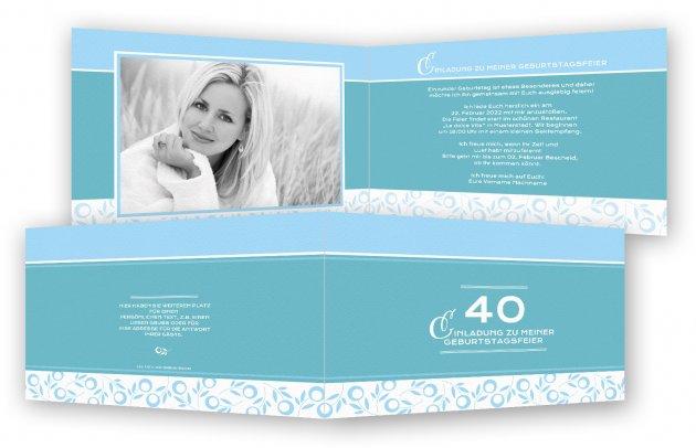 Einladungskarten 40 Geburtstag | Feinekarten.com