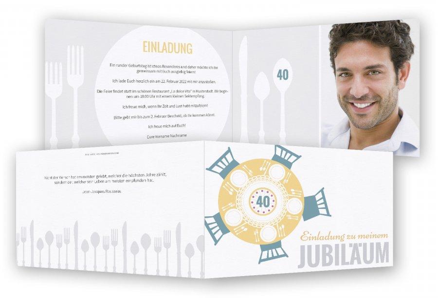 Einladungskarten Für Geburtstag Einladungskarten Für: Einladungskarte Für 40. Geburtstag Vorlage