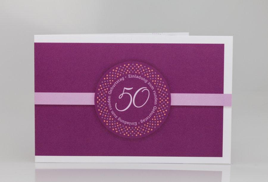 Einladungen 50. Geburtstag Bild