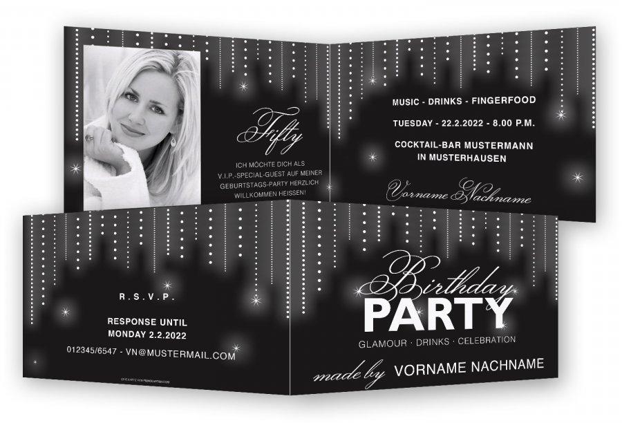 einladungskarten 50. geburtstag | feinekarten, Einladung