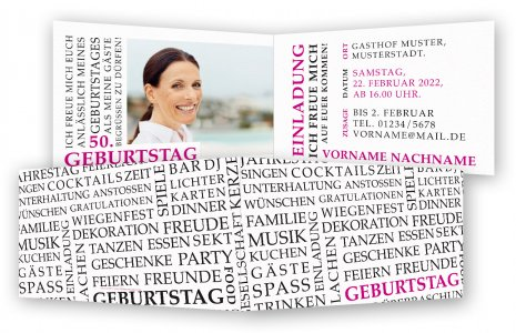 50. Geburtstag Einladungskarte
