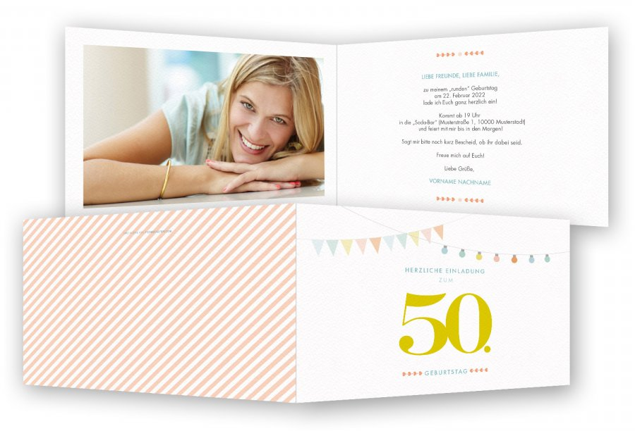 Geburtstag einladungen 50 - Einladungskarten geburtstag download ...