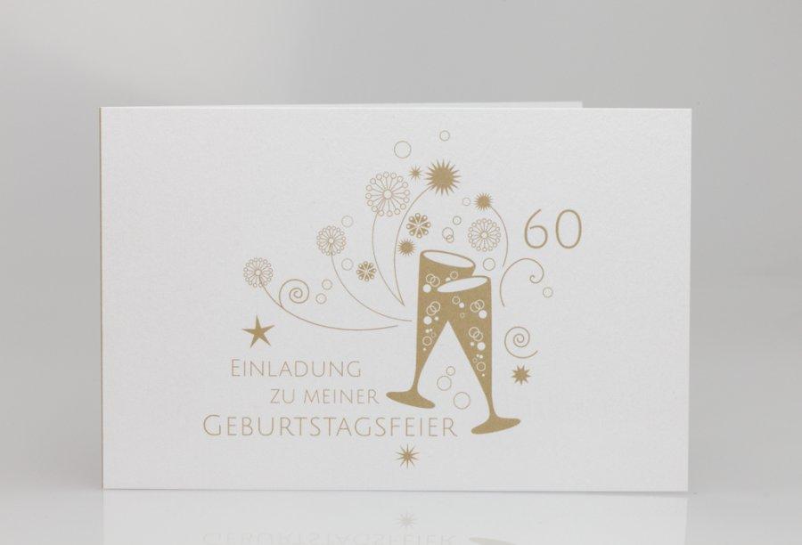 Einladungskarten 60. Geburtstag | Feinekarten.com