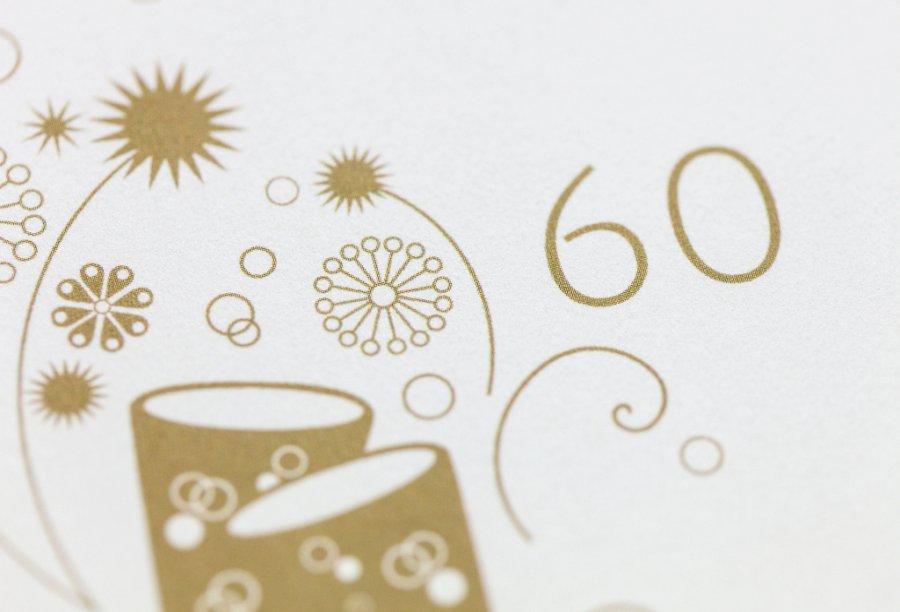 Einladungskarten 60. Geburtstag Bild