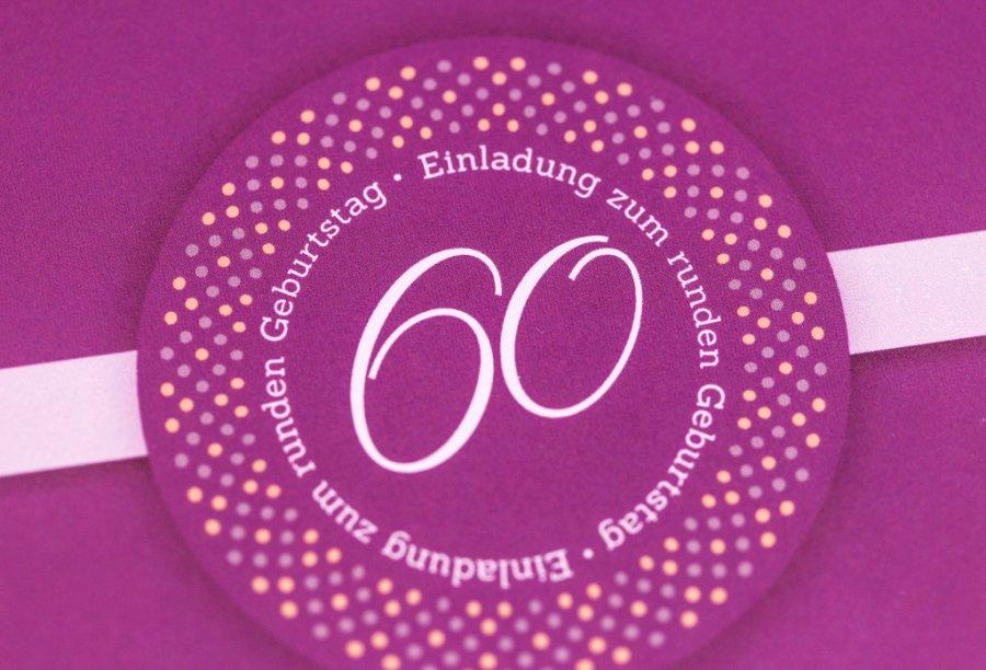 Einladungen zum 60. Geburtstag | Feinekarten.com