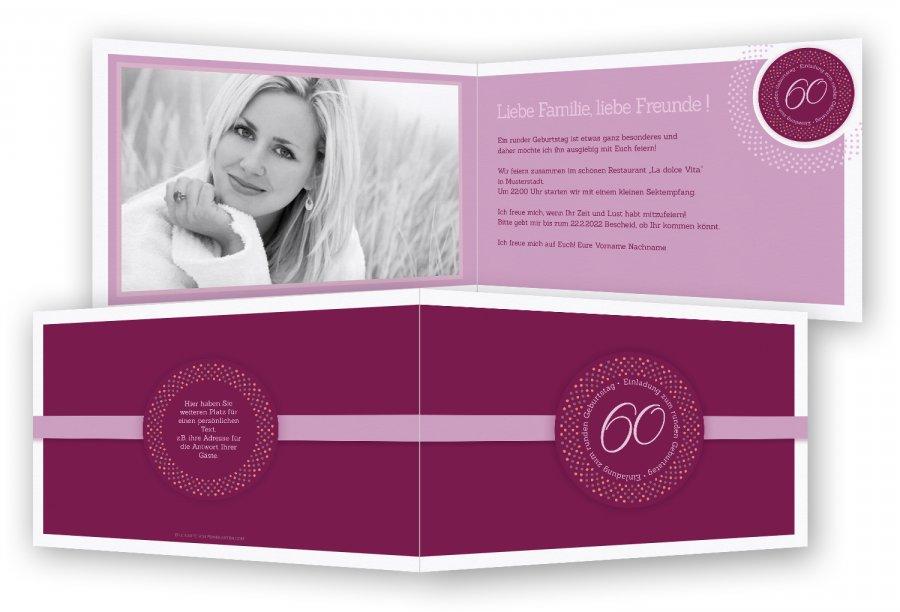 Einladung Zum 60 Geburtstag Einladungskarten Feinekarten Com