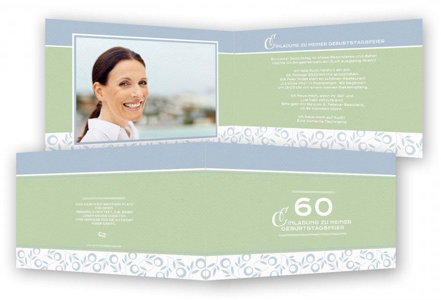 einladungen 60. geburtstag | feinekarten, Einladung