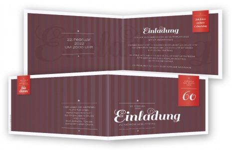 Einladung zum 60. Geburtstag, Einladungskarten | Feinekarten.com