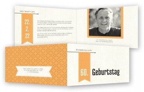 Einladungskarte Für 60. Geburtstag
