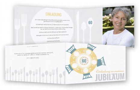 60. Geburtstag Einladungen Gestalten
