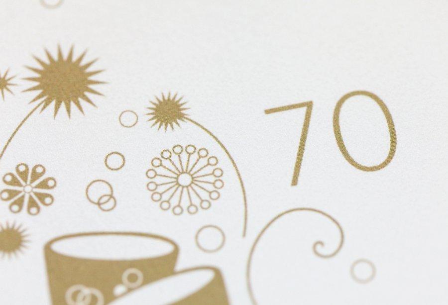 Einladung zum 70. Geburtstag | Feinekarten.com