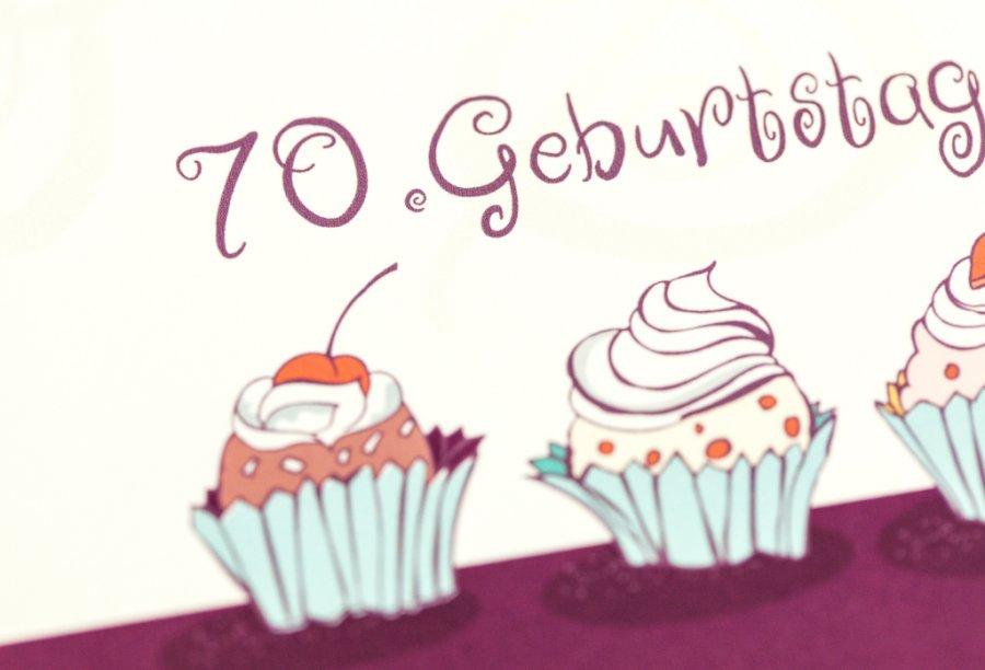Einladungskarten 70. Geburtstag | Feinekarten.com