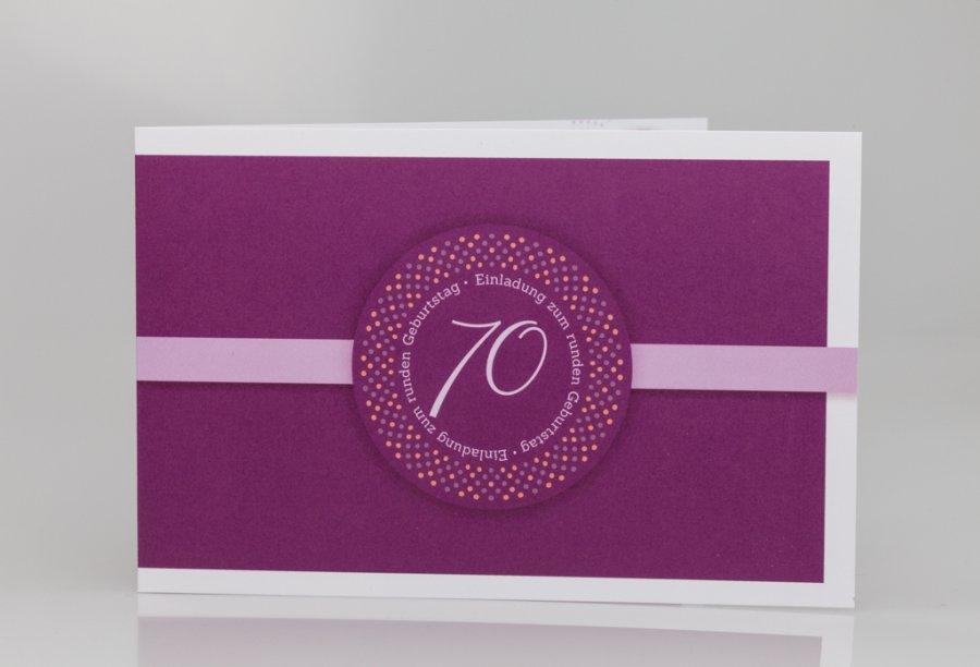Einladungen zum 70 geburtstag for Einladung 70 geburtstag basteln