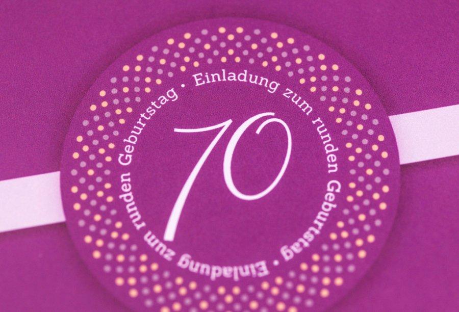 Einladungen zum 70. Geburtstag | Feinekarten.com