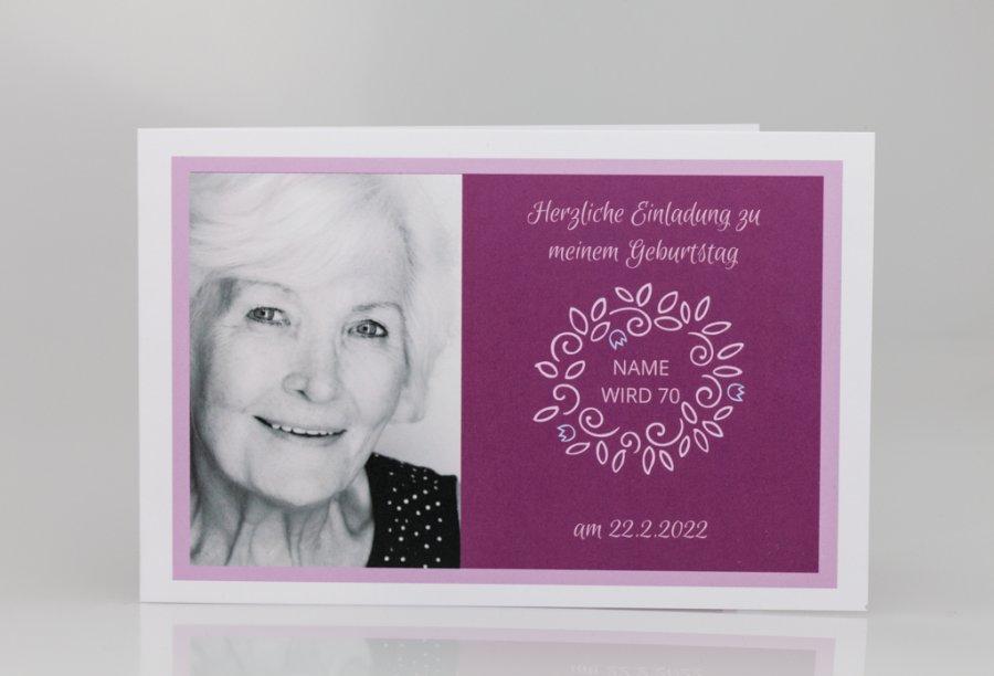Einladungskarten Zum 70. Geburtstag Bild