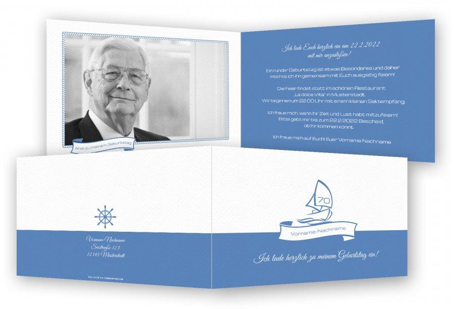Einladungskarte 70 Geburtstag | Feinekarten.com
