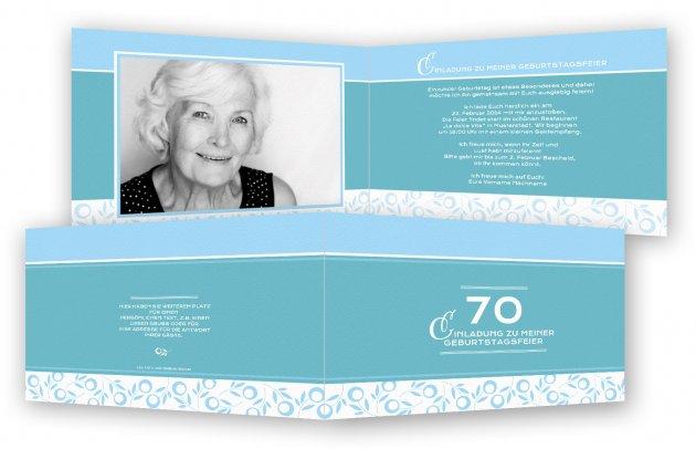 einladungskarte 70. geburtstag | katrinakaif, Einladungsentwurf