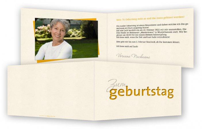 Vorlage Einladung 70. Geburtstag
