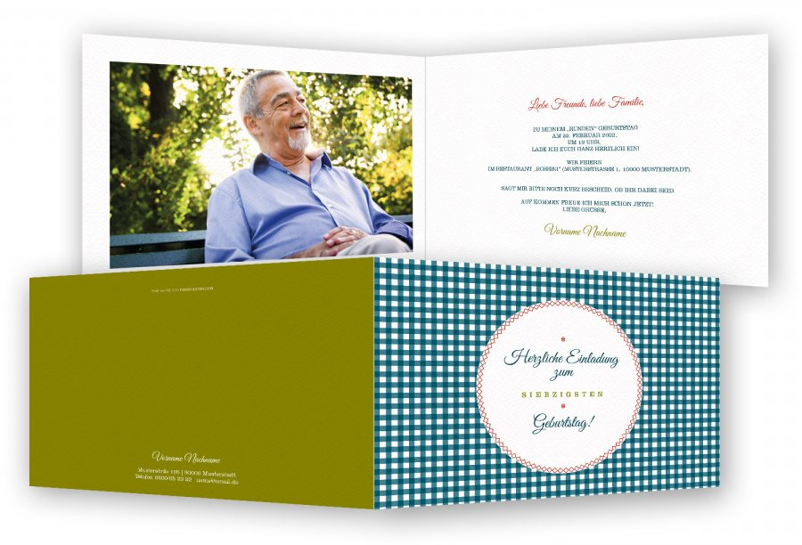 einladungen 70. geburtstag vorlage | feinekarten, Einladung