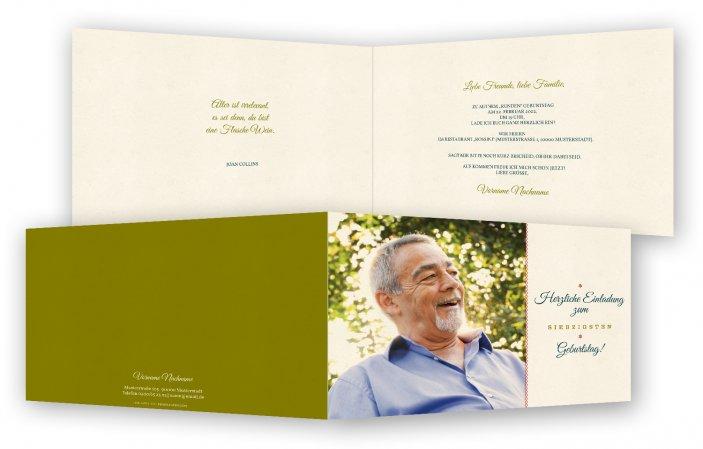 Vorlage Einladungskarte 70. Geburtstag