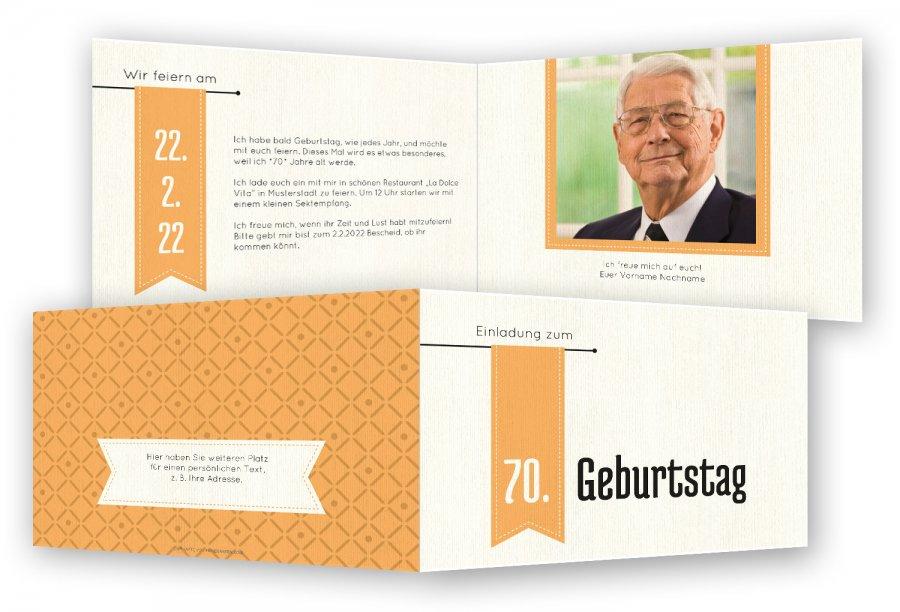 Startseite » Geburtstag » Einladungskarten zum 70. Geburtstag