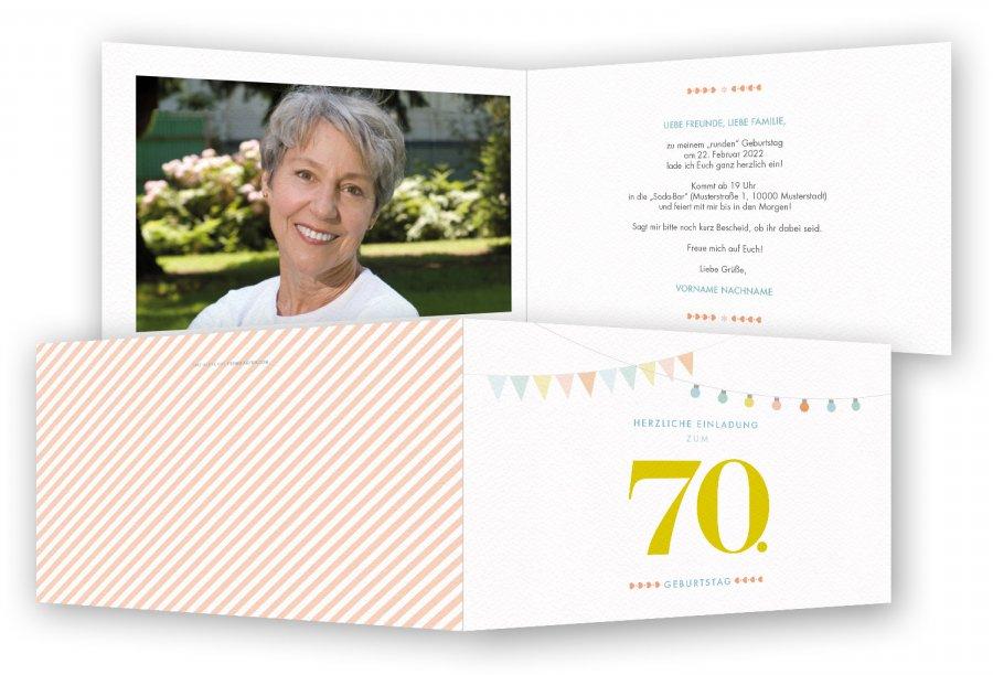 einladung zum 70. geburtstag, einladungskarten | feinekarten