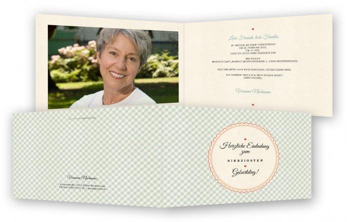 einladung 70. geburtstag vorlage | feinekarten, Einladungsentwurf