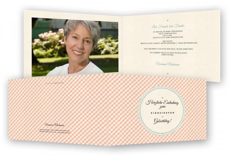einladung 70. geburtstag vorlage | feinekarten, Einladung