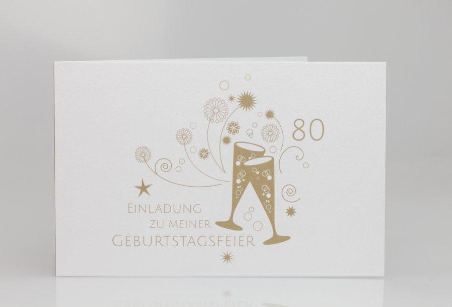 Schön Einladung Zum 80. Geburtstag Bild