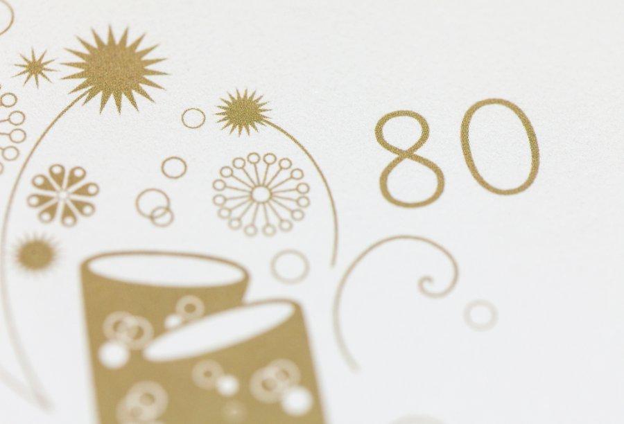 Einladung zum 80. Geburtstag | Feinekarten.com