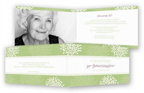 Einladungskarten 80. Geburtstag · Blumen Auf Hintergrund