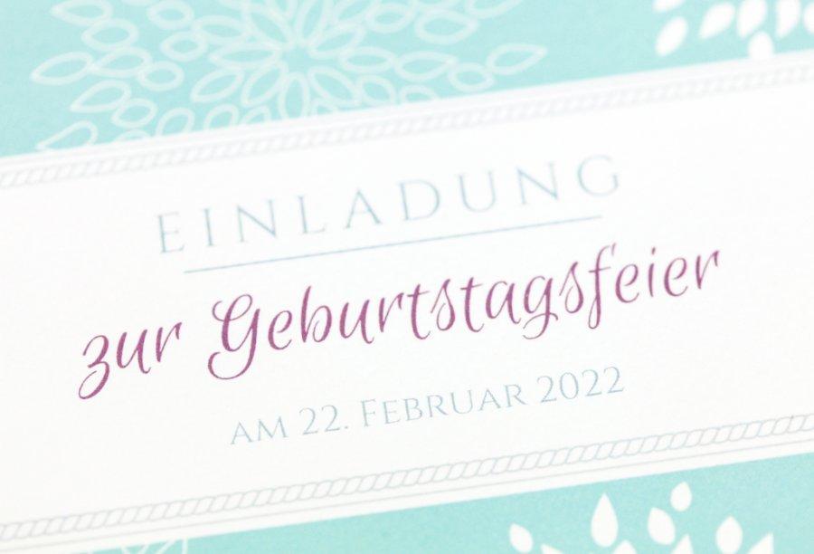 Einladungskarten 80. Geburtstag Bild