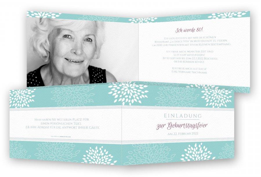 einladung zum 80. geburtstag, einladungskarten | feinekarten, Einladungsentwurf
