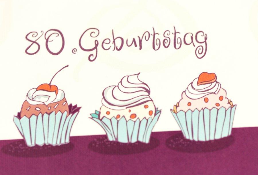 Einladung 80. Geburtstag | Feinekarten.com