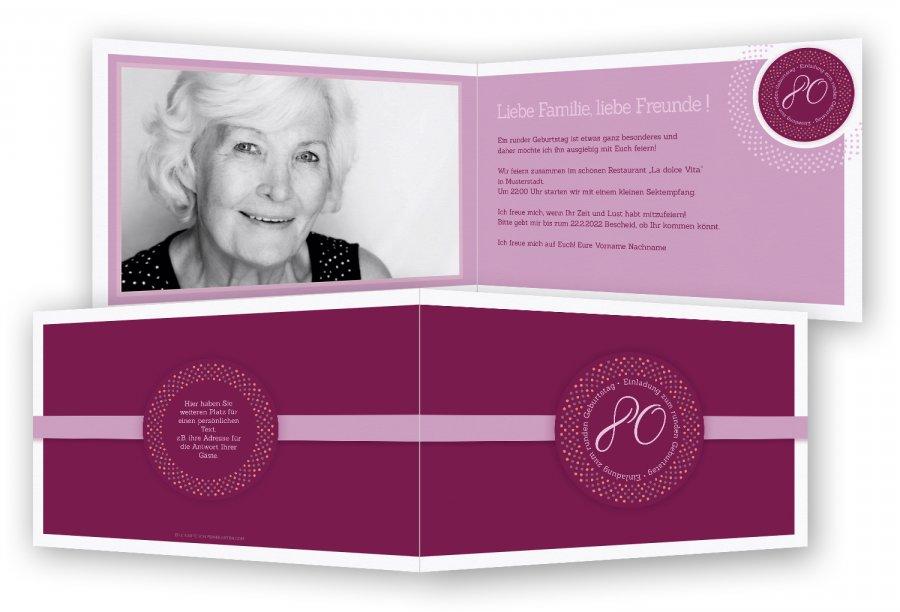 Einladungskarten zum 80. Geburtstag | Feinekarten.com