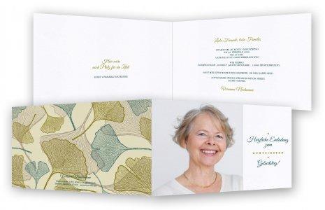 Einladungskarten 80. Geburtstag Vorlage