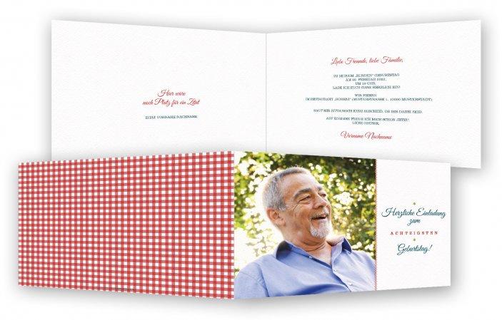 80. Geburtstag Einladungskarten