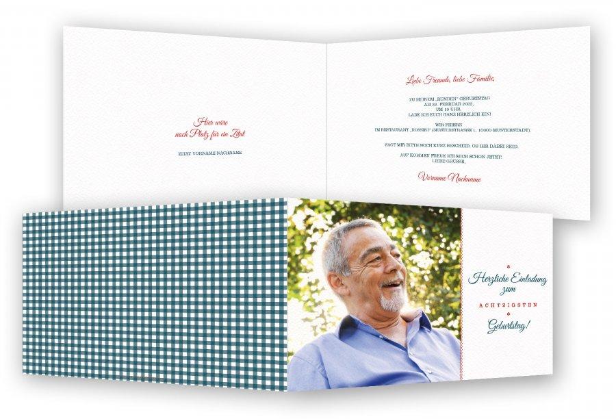 80. Geburtstag Einladungskarten | Feinekarten.com