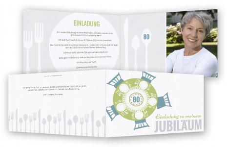 Geburtstag Einladungen Zum 80. Gedeckte Tafel