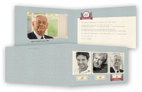 Vorlage 80. Geburtstag Einladungskarte
