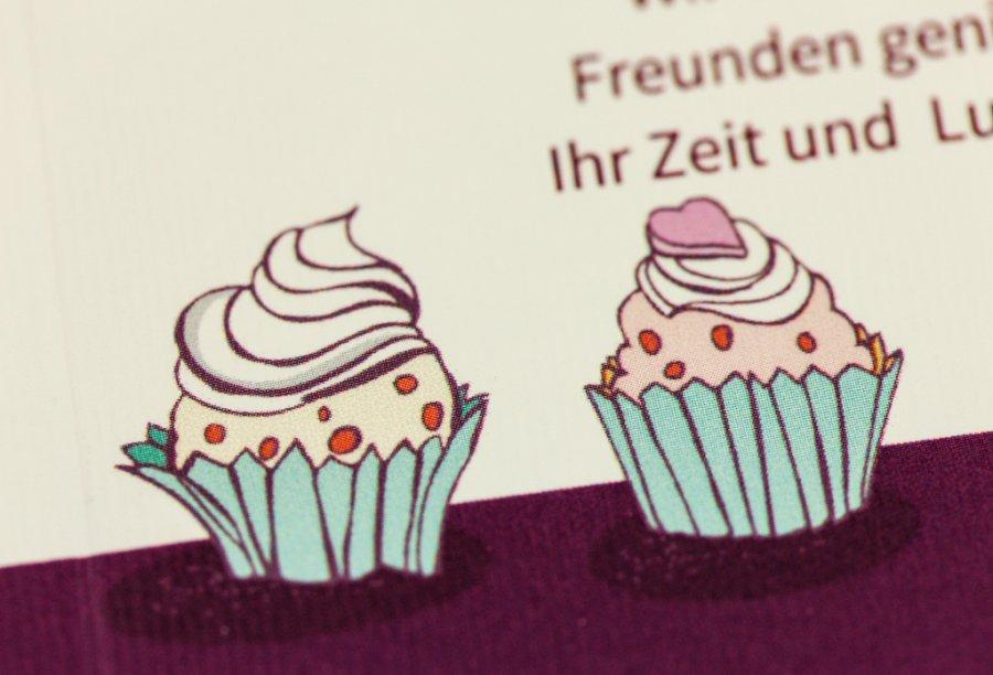 Einladungskarte Geburtstag Cupcakes Feinekarten Com