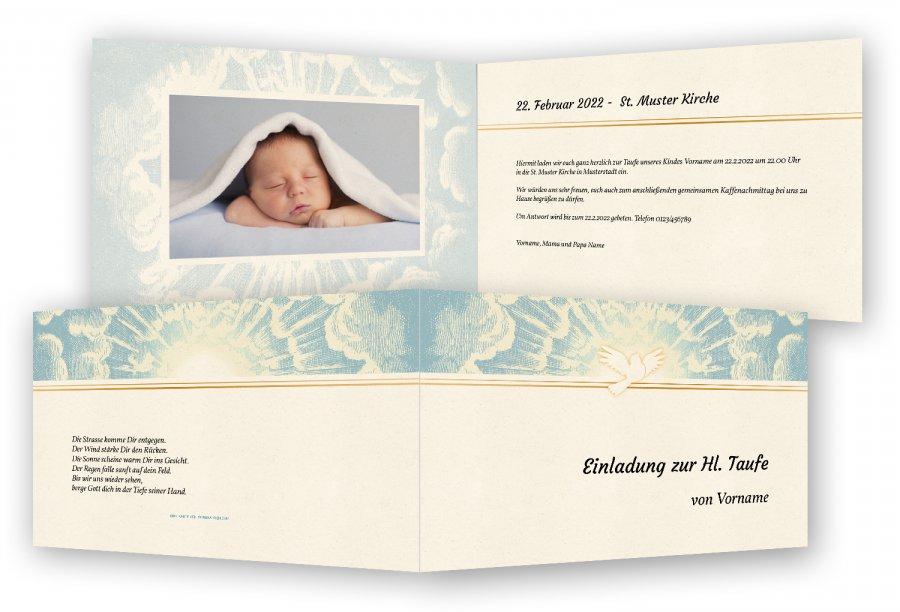 Karte Taufe Einladung.Einladungen Für Taufe Feinekarten Com